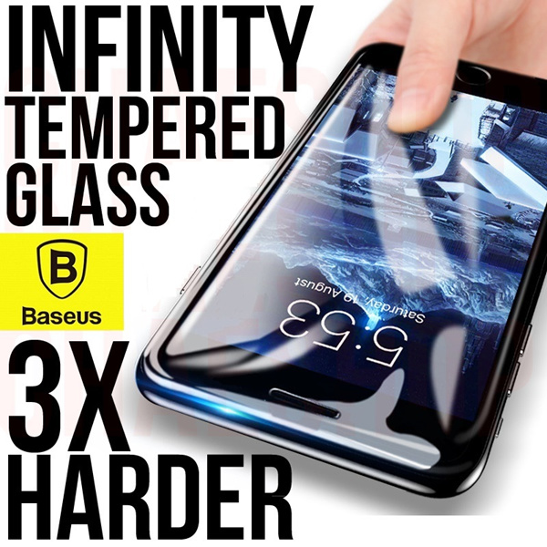 Baseus 4D Infinity Tempered Glass iPhone X/8/7?Samsung Note 9/Note 8/S9/S8(Clear?Privacy?Anti-Blue Deals for only S$25 instead of S$0