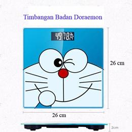 Timbangan Doraemon Timbang Badan Digital Karakter 26 cm Motif Lucu Alat Ukur Kadar Lemak Tubuh