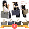 - NO OPTION PRICE - canvas tote bag 【4 colors ready stock】fast shipping