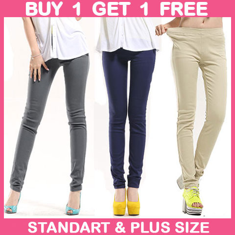 [BUY 1 GET 1] BEST SELLER Casual Pants Stretch 12 WARNA Good Quality / Celana Panjang wanita Deals for only Rp100.000 instead of Rp100.000