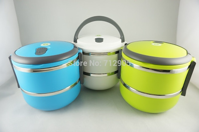 5dceaaf929e2 2 Layer Stainless Steel Thermos Lunch Box Thermal Food Container Japanese  Bento Box Food Box Lunchbo