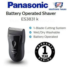★ Panasonic ES3831k 1-Blade Wet/Dry Battery Operated Shaver ★ (1 Year Singapore Warranty)