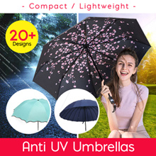 【Over 20 Designs】Umbrella / Anti-UV / UPF50 / Compact / Lightweight / Inner Printing/5 Fold/Straight