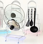 Kitchen pot rack with multi-kitchen shelving Drain water tray rack storage rack