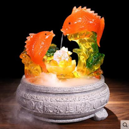 Running water Decoration Feng Shui Lucky treasure bowl fountain Water feature transport Decoration