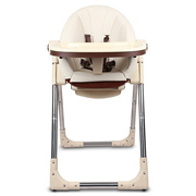 [BABY DINING CHAIR] MULTIFUNCTIONAL PORTABLE BABY FOLDING DINING CHAIR KIDS BOOSTER SEAT [CHAMPAGNE]