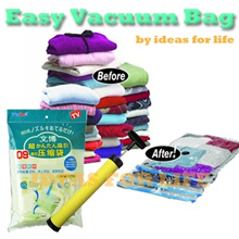 Save Space with 3 in 1 Vacuum Compression Storage Bag/TRAVEL COMPRESSION BAG with pump! Vacuum Bag