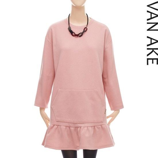 バンエイクフリル起毛コットン・ワンピースV7W1OP4650 面ワンピース/ 韓国ファッション