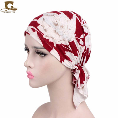 new women cotton bandana scarf pre tied chemo hat beanie turban headwear  cancer patients ladies d878538bb55f