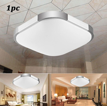 GERUITE16W Bedroom Square Cool White LED Ceiling Light Living Dining Roo Lamp