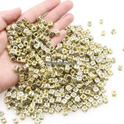250Pcs Letter Beads Mixed  Alphabet A  Z Cube Beads for Jewelry Making for  DIY Bracelets Necklaces
