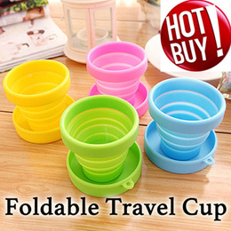 ♛ Foldable Silicone Cup /Travel Cup/  Silicon drink travel cup tooth brush cup♛