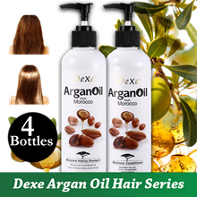 4 BOTTLES!!! [400ML X 4] DEXE MOROCCAN ARGAN OIL ★ SHAMPOO ★ CONDITIONER