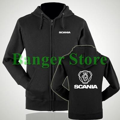 New Scania SAAB Logo Products Men/'s Black Hoodie