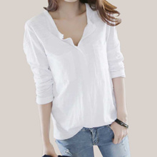 a6a81c426 Quick View Window OpenWishAdd to Cart. rate:0. outlet Women T Shirt 2018  Autumn femme tshirt Fashion Sexy V Neck Cotton Solid Tops Casual Female Lo