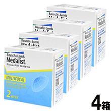 Medalist Multifocal × 4 Box Set [Contact Lenses Bifocal 2 Week] Bausch & Lom 【Contact Lens Medalist Multifocal Bifocal Hearing】