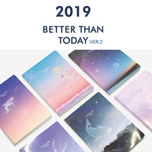 SWEET MANGO] PLEPLE 2019 Better Than Today Diary + Cover - 2019 diary monthly weekly planner