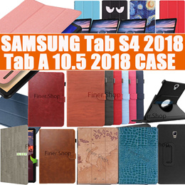 Smart Flip cover case for Samsung Galaxy Tab S4 S3 S2 S Tab A 8.0 8.4 9.7 10.5 Case Screen Protector