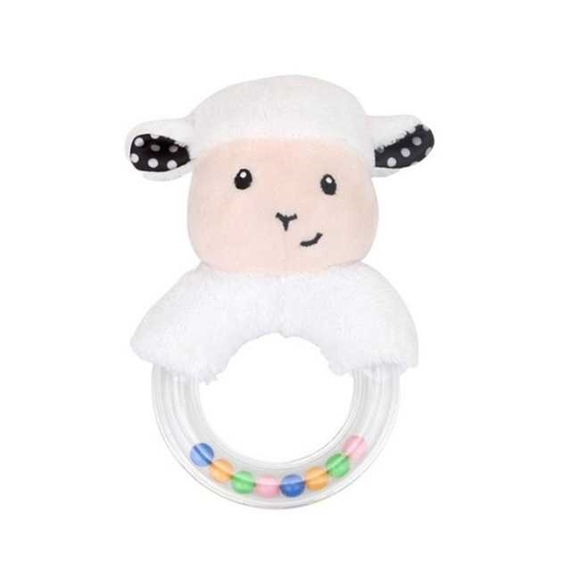 sale Cute Innovative Cartoon Rabbit Fox Sheep Hand Ring Rattle Baby Plush  Toy