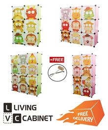 LivingCabinet 6/8/9/12 Cubes Animal Zodiac Series DIY Cabinet Hanger Wardrobe FOC Hanger and Hammer