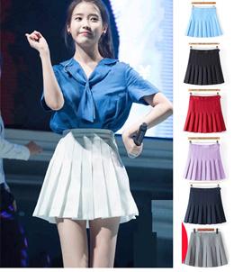 378b9c0ace8 Korean Style Women Mini Skirt high waist with inner pants A design