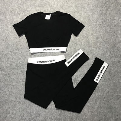 399a9a8a8f406 2ST026 2 pcs set yoga running jogging dance sports wear crop top pants  legging outfit