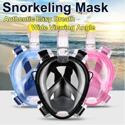 12ee11c7e4608 Underwater Scuba Anti Fog Full Face Diving Mask Snorkeling Set Respiratory  masks Safe and waterproof