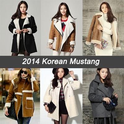 e253df2bddea ☆2014 New Korean☆ Mustang Jacket Winter Women Ladies Apparel Fashion Woman  Ladies Wear