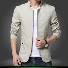 High Quality New Men Bomber Jacket Soild Color Spring Autumn Casual Male Coat Slim Fit Cotton Veste