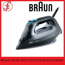 BRAUN IRON SI9188 TEXSTYLE 9 STEAM IRON (2800W) WITH ICARE TECHNOLOGY