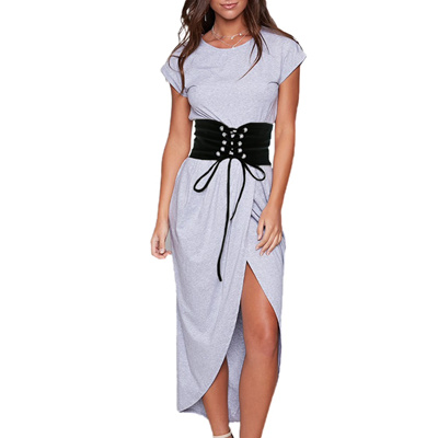 1915ab9f850 Vintage Black Lace Up Corset Bandage Women Waist Belt Shape-Making Midriff-Cinchers  Plus