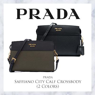 65cb48345955 Qoo10 - Prada Saffiano City Calf Crossbody (Available In 2 Colors ...