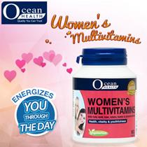 Apply $5 OFF+ 20% OFF shop coupon! [Ocean Health] Womens Multivitamins (60s caplets) - Vegetarian/ Halal formula