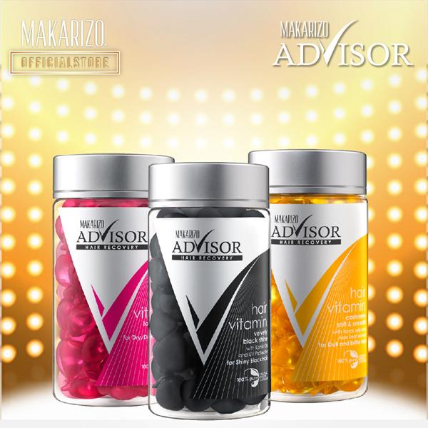 Makarizo Advisor Hair Vitamin Rambut Kapsul 1mL x 50 pcs