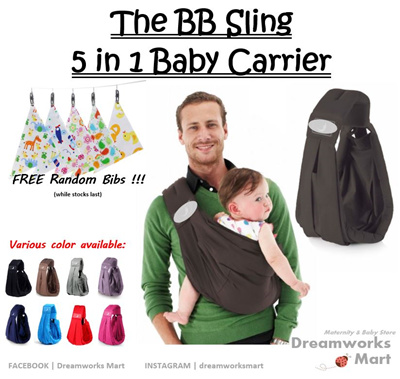 68f4e01c18d Qoo10 - The BaBa Sling 5 in 1 Baby Carrier Classic  c w FREE Gift  🎁🎁    Baby   Maternity