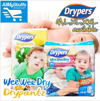 ?DRYPERS?NEW! ? WEE WEE DRY ? DRY PANTZ ? tape/pants ? M/L/XL/XXL available ? CARTON SALE