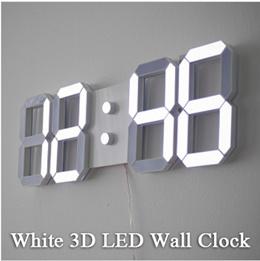 [Lifestory] White 3D LED Wall Clock / Key Valin led3d Wall Clock / White Interior Gift