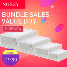 [BUNDLE OF 3 + 1 FREE] Stackable Drawer Storage Box | Wardrobe Organizer | Shoe Box