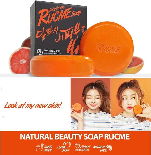 GodSkin Rucme Soap Grapefruit 100g/Sabun beraroma buah Deals for only Rp125.000 instead of Rp125.000