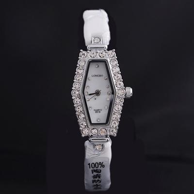 LONGBO 8918 Women¨s Quartz Watch Luxury Crystal Rhinestone Geometry Dial 30M Waterproof Wrist Watch