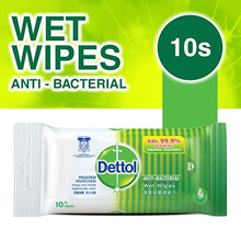 Dettol Anti-Bacterial Wet Wipes - 10s
