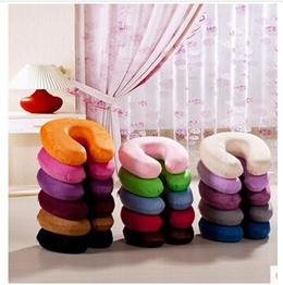 U-pillow memory foam neck pillow care neck nap student travel office u-shaped pillow washable 16 col