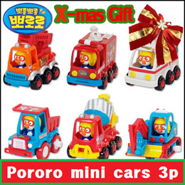 ★X-MAS SALE★ Pororo and Tayo mini cars 3P set / pull back cars / toddling bus / soft toy (Given sweety)