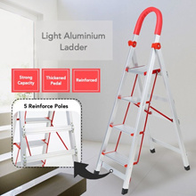 ★ Light Aluminium Ladder with Grip Handle ★ 3 4 5 or 6 Step • Light! • Safe • Easy to Carry