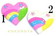 Rainbow Heart 1 piece (21 mm × 25 mm) [Nail Nail Art Deco]
