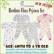 Bamboo Long Sleeve Pyjamas Set and Romper Soft Comfortable Anti-bacteria Anti-fungal Odorless Absorb