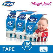 Drypers Wee Wee Dry Super Jumbo S82/M74/L62/XL50/XXL40 (3 Pack)