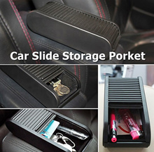 Car Multipurpose Slide Storage Porket Box (Adhesion method)/ Coin Box/ Personal items Storage