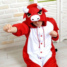 FCQNY Thicken Romper for Toddlers Cute Pattern Cotton Single-Breasted Hooded Jumpsuit Red