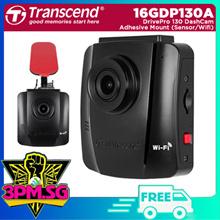 Transcend TS16GDP130A DrivePro 130 DashCam Adhesive Mt (Sensor/Wifi/Park Mode/LCD) 1Y Local Warranty